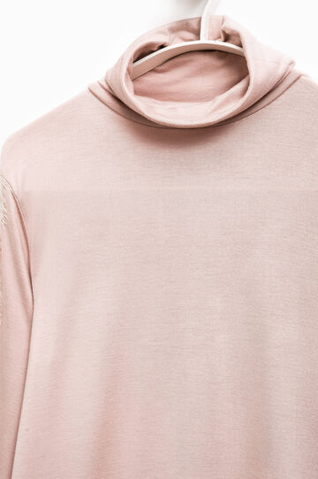 T-shirt stretch pizzo Smart Basic, Rosa, hi-res