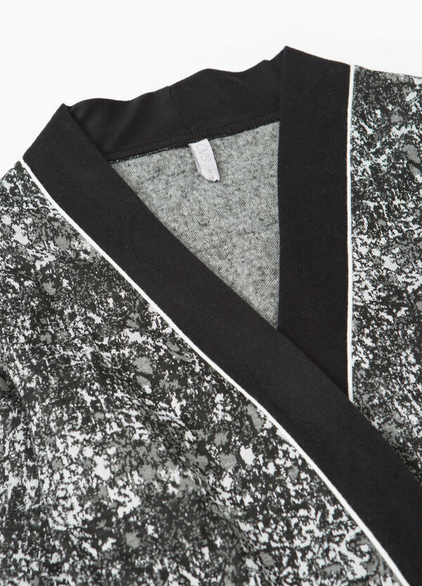 Patterned stretch viscose robe | OVS