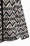 Smart Basic fleece sweatshirt with pattern, White/Black, hi-res