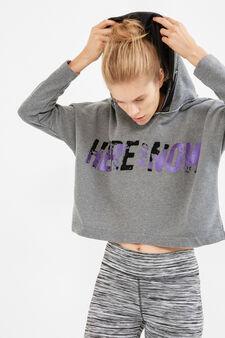 OVS Active Sport Training crop sweatshirt, Grey, hi-res