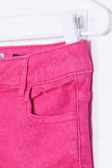 Plain stretch jeans, Pink, hi-res