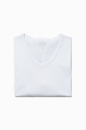 V-neck undershirt, Optical White, hi-res