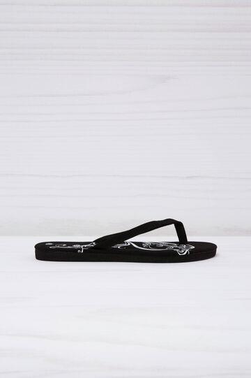 Printed flip flops, Black, hi-res