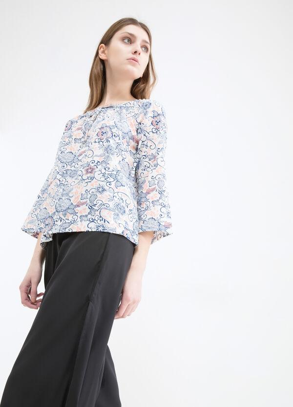 Blusa in puro cotone con stampa | OVS