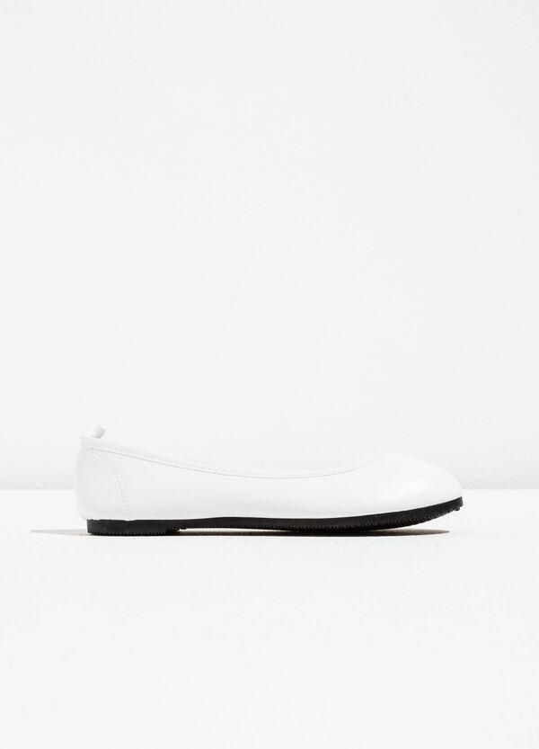 Hammered-effect ballerina flats | OVS