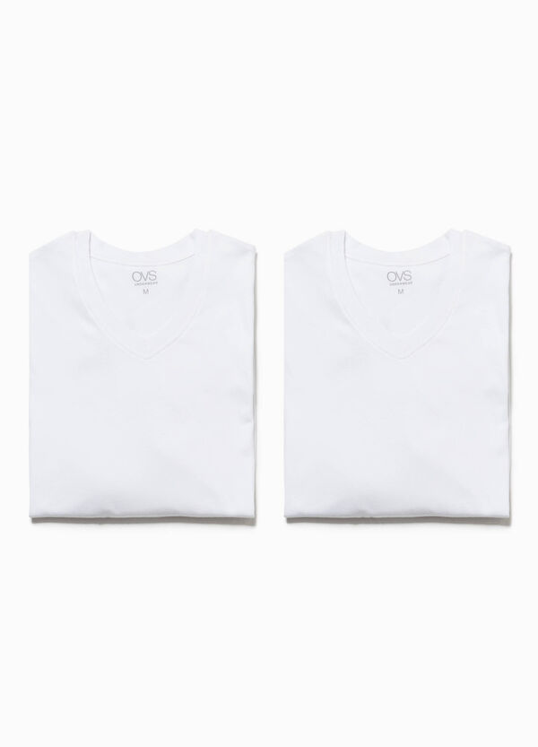 Two-pack undershirts with V neck | OVS
