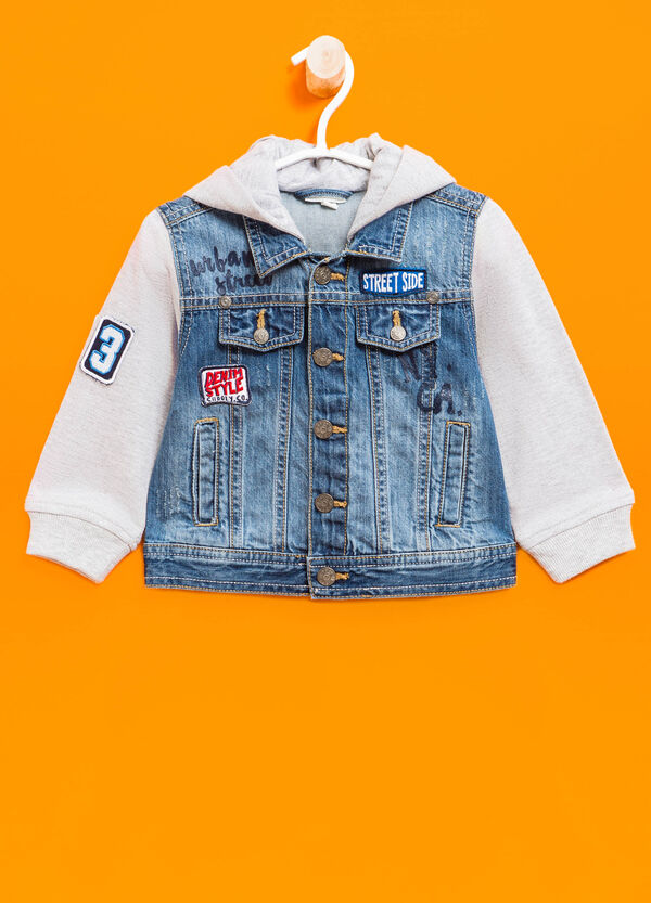 Denim jacket with patches | OVS