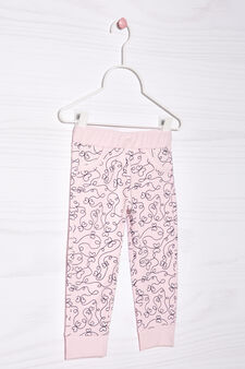 Pantaloni tuta stretch fantasia, Rosa chiaro, hi-res