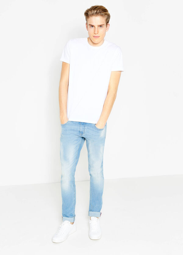 Jeans skinny fit used con baffature | OVS