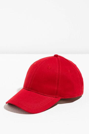 Gorra de béisbol de algodón, Rojo, hi-res