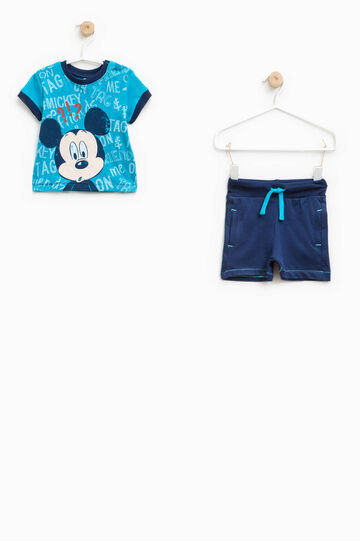 Outfit with maxi Mickey Mouse print, Turquoise Blue, hi-res