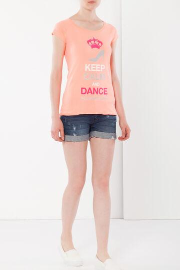 T-shirt with raglan sleeves, Orange, hi-res