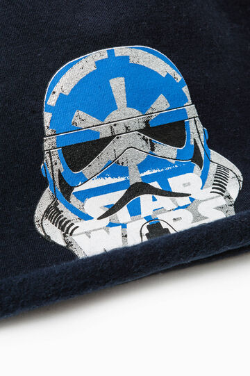 Beanie cap with Star Wars print, Navy Blue, hi-res