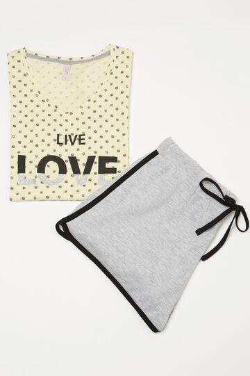 Polka dot pyjamas in 100% cotton, Multicolour, hi-res