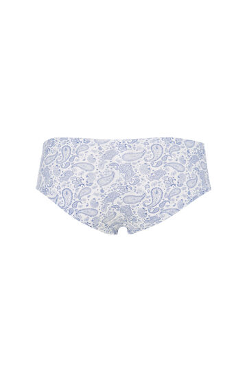Culotte stretch con fantasia, Bianco, hi-res