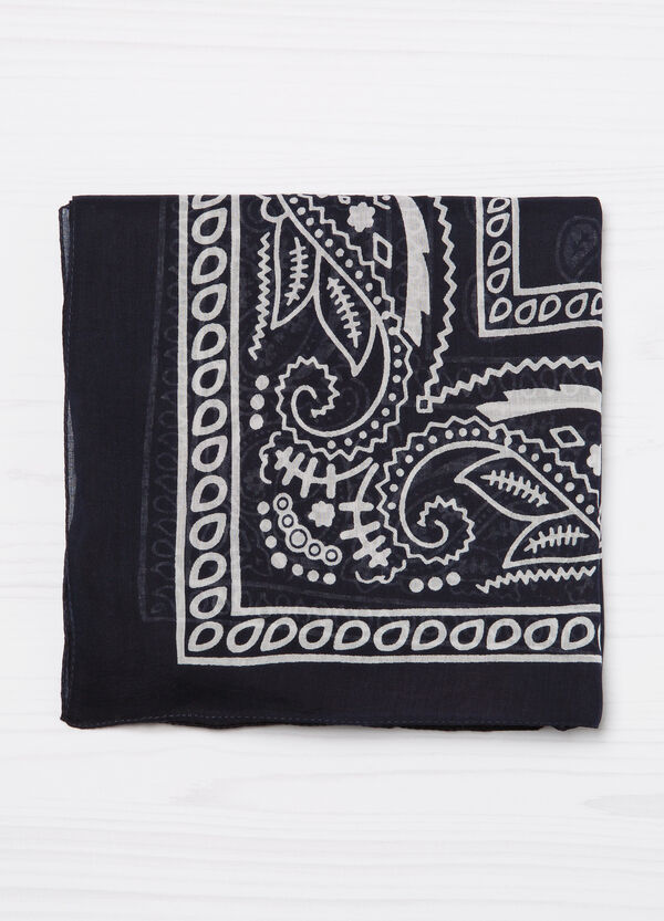 Printed scarf in 100% cotton | OVS