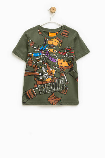 T-shirt with Teenage Mutant Ninja Turtle print, Moss Green, hi-res