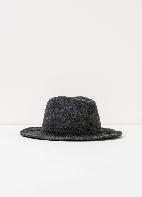 Wide brim hat in wool | OVS