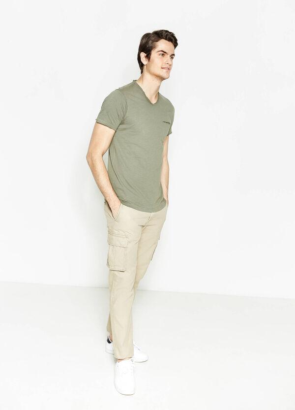 V-neck T-shirt with pocket   OVS