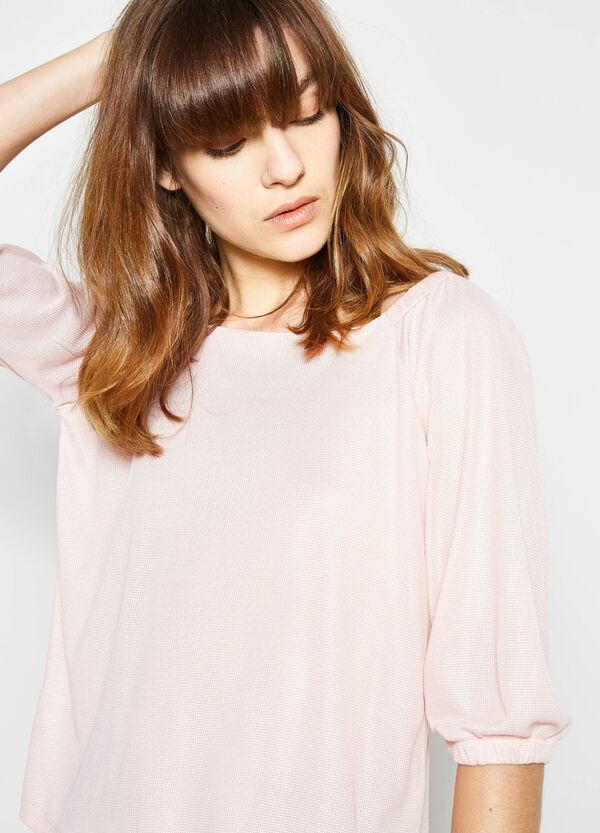 T-shirt con scollo a barchetta | OVS