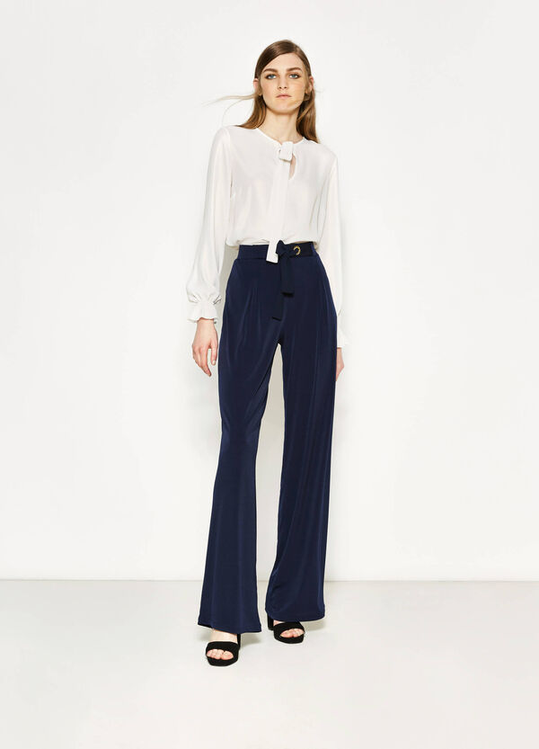Palazzo trousers with laces | OVS
