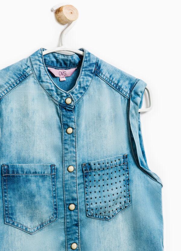 Camisa vaquera sin mangas | OVS