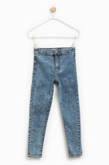 Jeans skinny fit effetto maltinto, Blu scuro, hi-res