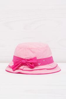 Cappellino alla pescatora a pois, Rosa, hi-res