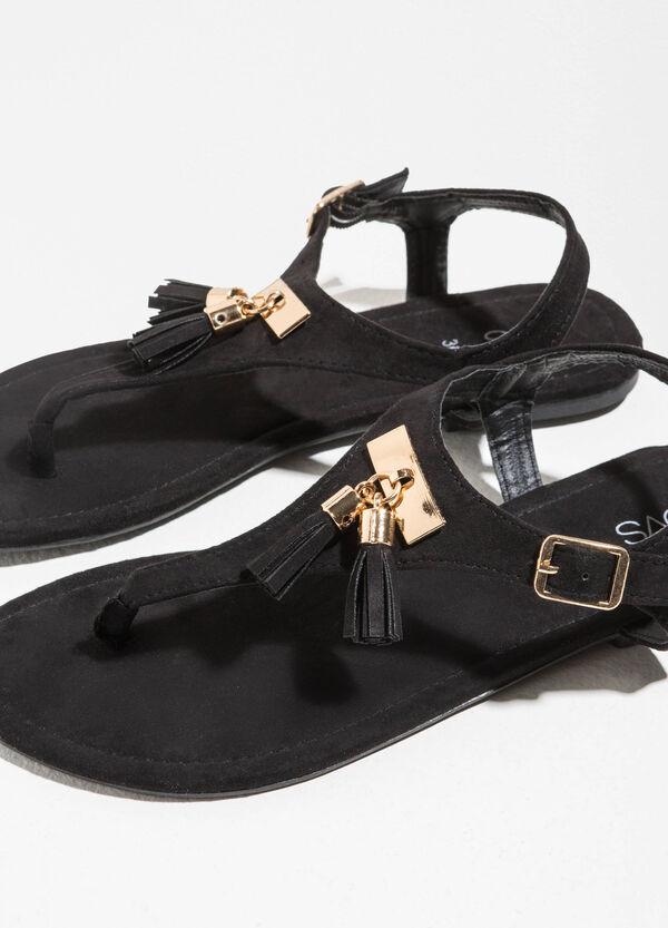 Sandali in tela con nappine | OVS