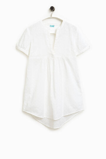 Openwork kaftan with embroidery, White, hi-res