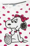 Polka dot pyjamas with Belle print, White/Grey, hi-res
