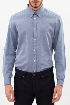 Regular-fit patterned shirt, White/Blue, hi-res