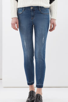 Stretch Capri jeans, Dark Blue, hi-res