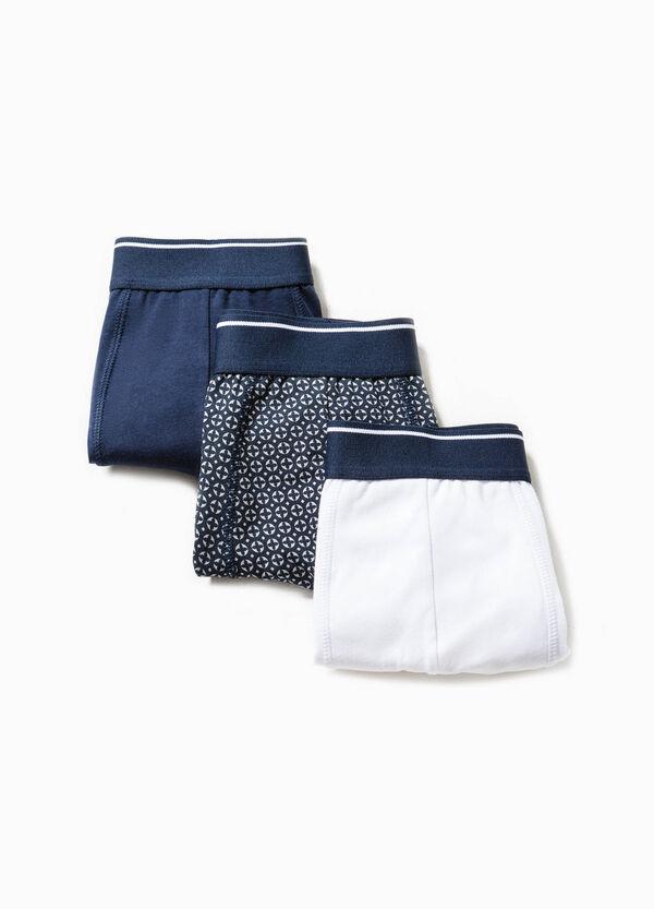 Pack de tres bóxers en color liso y con estampado | OVS