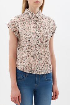 Sleeveless shirt with pockets, White, hi-res