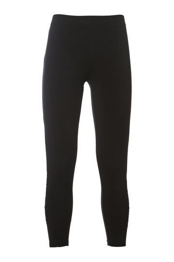 Leggings con pizzo Smart Basic, Nero, hi-res
