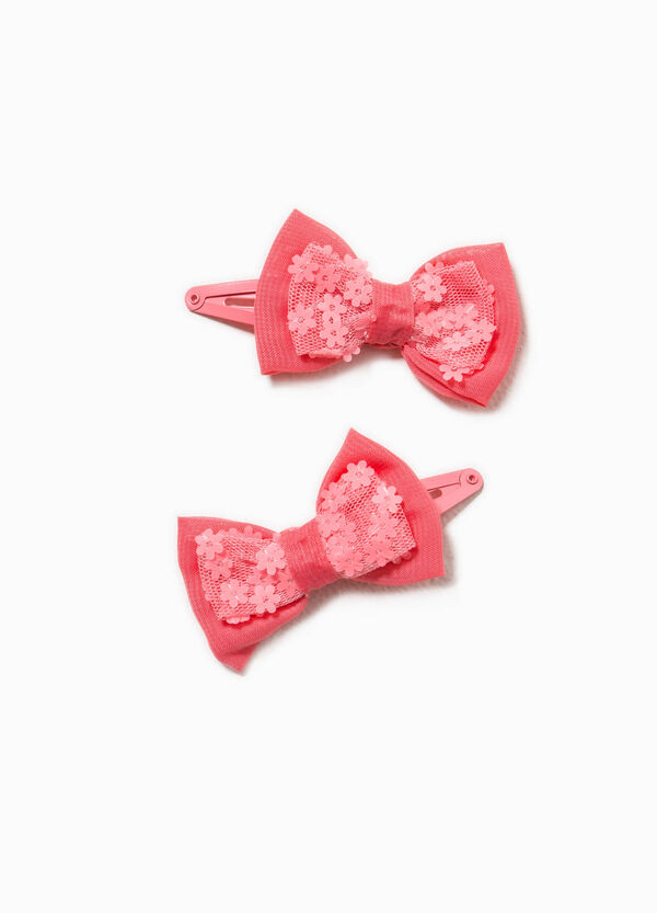 Set of two hair clips with bow | OVS