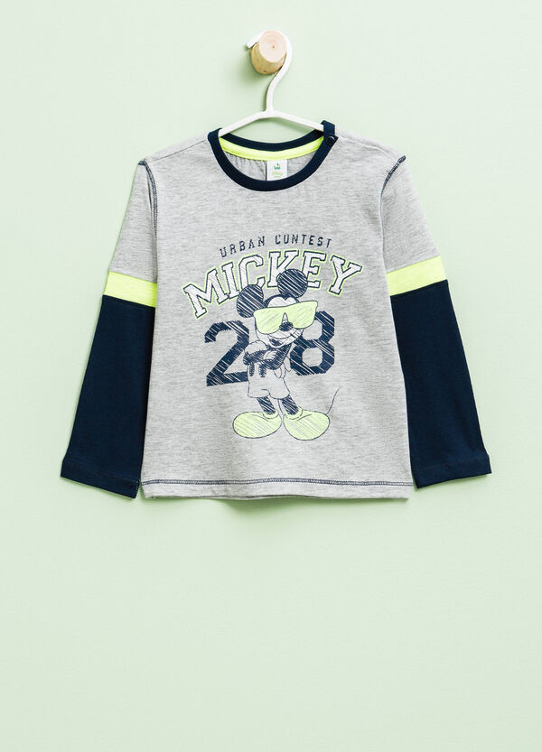 Camiseta con efecto falso doble de Mickey Mouse | OVS