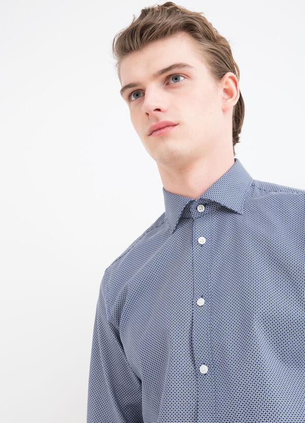 Camicia slim fit cotone fantasia | OVS