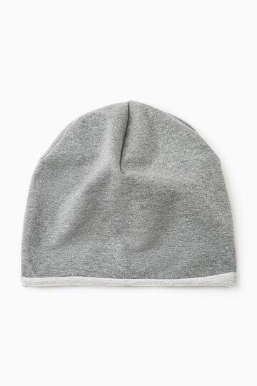 Cotton beanie cap, Grey Marl, hi-res
