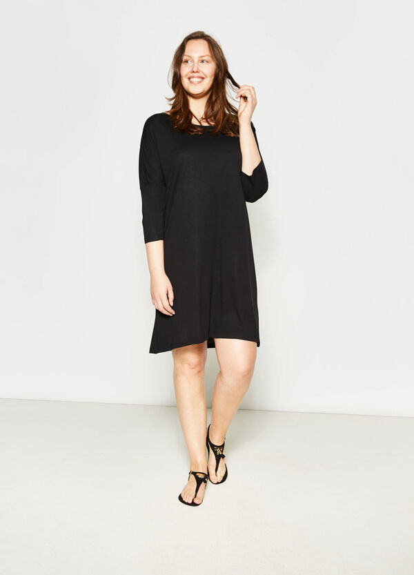 Curvy boat neck dress | OVS