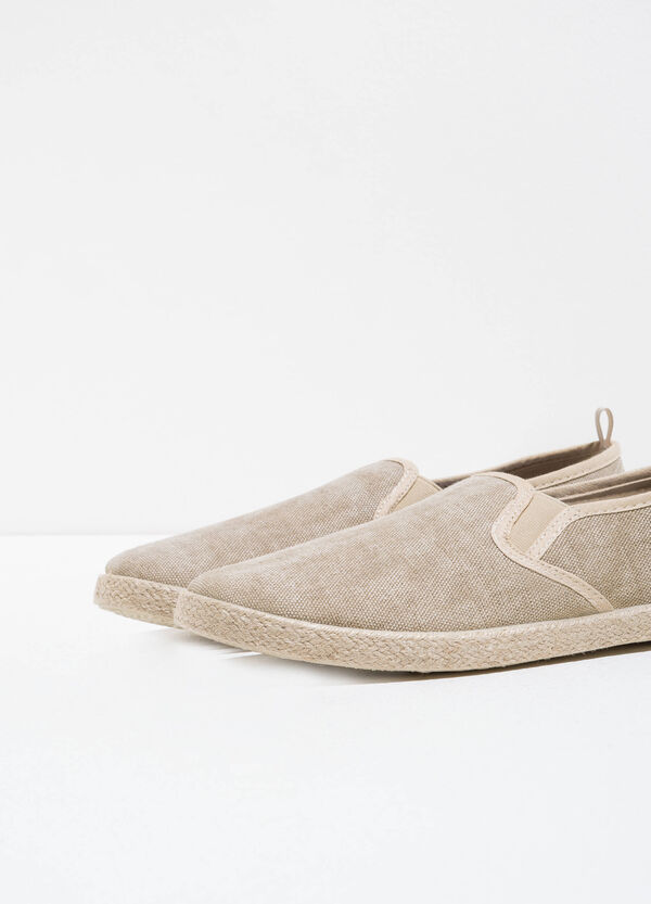 Slip-on with canvas upper | OVS