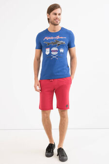 T-shirt puro cotone stampa Maui and Sons, Blu royal, hi-res