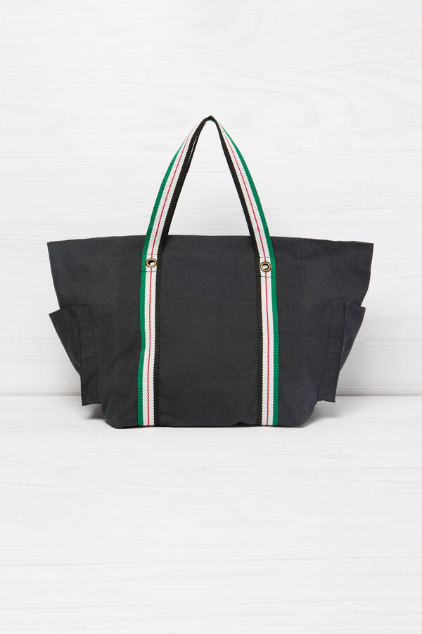 Cotton shopping bag with pockets | OVS