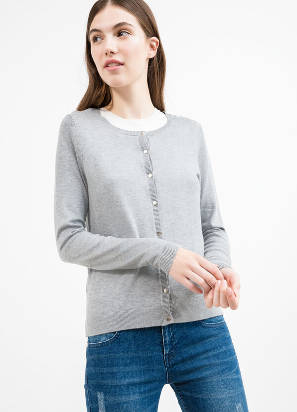 Cardigan viscosa bottoni madreperla | OVS