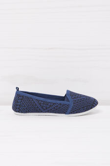 Geometric patterned slip-ons, Blue, hi-res