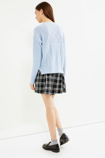 Cable knit pullover, Light Blue, hi-res