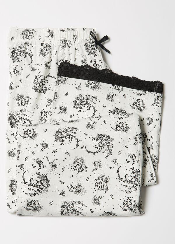 Stretch patterned pyjama trousers | OVS