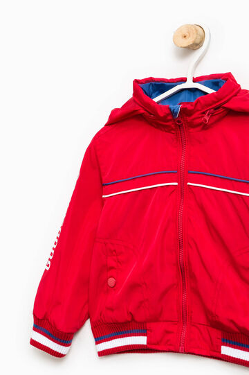 Jacket with pull-out hood, Red, hi-res