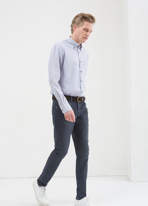 Camicia cotone a righe regular fit | OVS